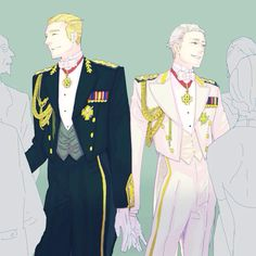 The German Brothers. Gilbert looks uncharacteristically proper 😂😂 Ludwig Beilschmidt and Gilbert Beilschmidt from Hetalia Prussia Hetalia, Hetalia Germany, Germany And Prussia, Hetalia Anime, Hetalia Fanart, Gilbert Beilschmidt, Latin Hetalia, Hetalia Axis Powers, Bae