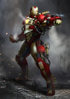 Steampunk Iron Man by conorburke
