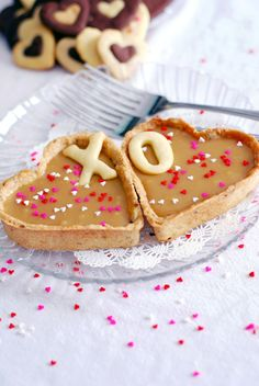 delicious inspiration.: Heart-Shaped Butterscotch Tarts just in case you want to fix something besides chocolate for Valentine's Day.