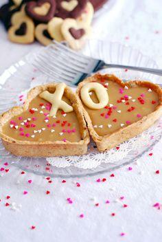 Heart-Shaped Butterscotch Tarts.