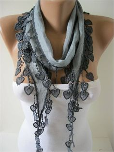 Cotton Scarf with Trim Edge Summer Scarf Shawl by MebaDesign, $13.90 by vladtodd