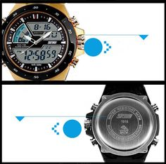 SKMEI 1016 Mens Waterproof Analog   Digital Sports Watch - Black - Free Shipping - DealExtreme