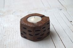 Tealight candle holder made from Banksia seed pods found only in Western Australia!