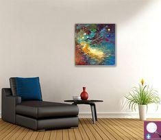 """#colorislife #peinture #painting #art #decoration #interiordesign """"Oméga"""" /'Omega' (c) Eliora Bousquet [Photo du décor (c) 123RF] Bousquet, Art Abstrait, Photos Du, Floor Chair, Flooring, Decoration, Painting, Furniture, Home Decor"""