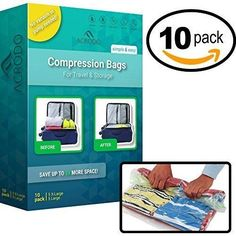 Ziplock Space Saver Compression No Vacuum Clothing Organize Luggage Suitcase Bag #Acrodo