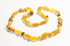 Baltic amber necklace. Beaded polished by LuxuryBalticAmber, $18.99