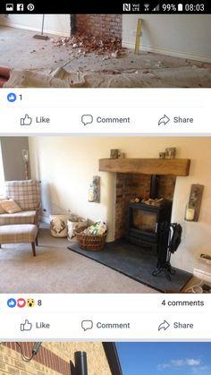 Wood Burning, Stove, Home Decor, Decoration Home, Range, Room Decor, Home Interior Design, Woodburning, Hearth Pad