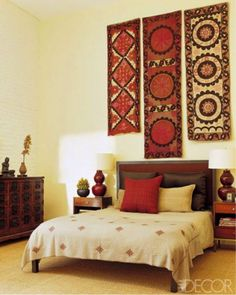 Simple and Crazy Tips: Vintage Home Decor Inspiration Joanna Gaines classy vintage home decor rugs.Vintage Home Decor Living Room Fixer Upper vintage home decor antiques tips.Vintage Home Decor Bathroom Apartment Therapy. Indian Bedroom Decor, Ethnic Home Decor, Indian Home Decor, Bedroom Art, Indian Wall Decor, Boho Decor, Bedroom Ideas, Bedroom Headboards, Bedroom Interiors
