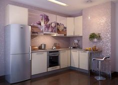 Creative lilac mosaic tiles - kitchen design