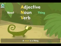 Nessy Reading Strategy: Adjectives, Nouns, Verbs (Amazing Newts Vibrate) - YouTube