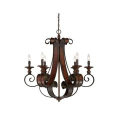 Craftmade 28026 Seville Single Tier 6 Light Candle Style Chandelier - ($704) ❤ liked on Polyvore featuring home, lighting, ceiling lights, chandeliers, indoor lighting, spanish bronze, bronze lamp, spanish lighting, bronze chandelier and bronze lighting