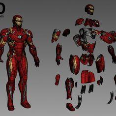 Iron Man Helmet, Iron Man Suit, Iron Man Armor, Iron Man Captain America, Captain America Civil War, Iron Man Hand, Iron Man Cosplay, 3d Printable Models, Ironman