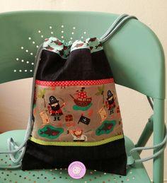 #mochila #talega #infantil #niños #hechoamano #handmade #baby #piratas #fabrics #telas #vaquera