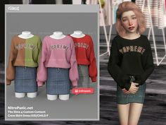 Sims 4 Toddler Clothes, Sims 4 Mods Clothes, Sims 4 Cc Kids Clothing, Mods Sims, Sims 4 Game Mods, Kids Outfits Girls, Toddler Outfits, Girl Outfits, Kids Girls