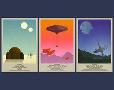Star Wars Classic Trilogy Set 3 Posters 12x18 por timanderson310