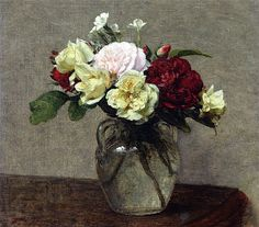 The Athenaeum - Bouquet of Mixed Roses (Henri Fantin-Latour - )