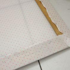 Como fazer painel de tecido / cenário - Ideias em Casa