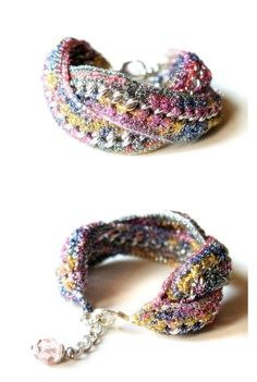 Infinity Ombre silver pink and mutlicolor by HoperalabJewels