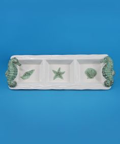 Look at this #zulilyfind! Seahorse Three-Section Plate by Chesapeake Bay #zulilyfinds