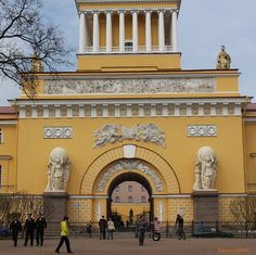 Admiralty Building. Petersburg. 1810-23. by Andreian Zakharov.