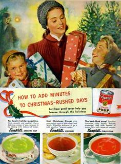 """Campbell's Soup Christmas – """"Breeze through the holidays"""", 1948"""