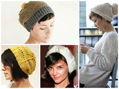 Women with short hair wearing Oversized Floppy Hats  80be4ad8fee