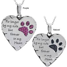 Though your beloved pet is no longer with you, the paw print they left on your heart will forever remain. Cherish the memories with our necklace, given an aged look through an oxidized treatment for a timeless look.