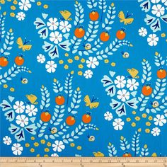 Lotus Pond Organic Floral Blue from Designed by Rae Hoekstra for Cloud 9 Organic Fabrics, this GOTS certified organic cotton print fabric is perfect for quilting, apparel and home décor accents. Colors include white, saffron, tangerine and shades of blue. Lotus Pond, Cloud 9, Color Stories, Shades Of Blue, Fabric Patterns, Fabric Design, Printing On Fabric, Sewing Projects, Quilts
