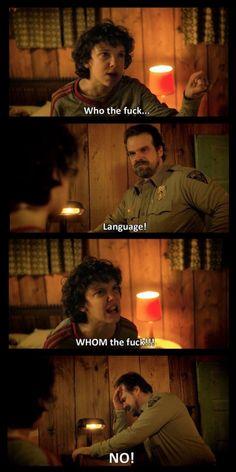 I love Stranger Things.