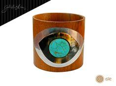 Bracelete Madeira Olho - Gabriela Aidar