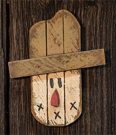 """KP Creek Gifts - Hanging Lath Scarecrow Head, 10"""""""