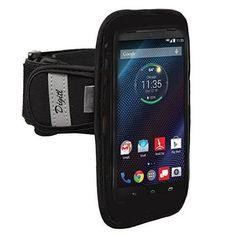 Premium Neoprene Armband for Motorola Droid MAXX 2, Turbo 2, Moto M, X Z Force Sweat / Water Resistant Gym Exercise Jogging Sports Strap with Reflective Strips (use with or without case)