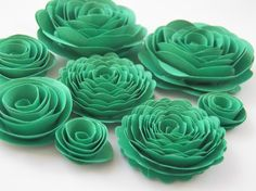 Medium Emerald Isle Green Handmade Rose Spiral by crazy2becrazy