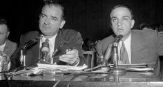 03/26/17 | Senator Joseph McCarthy and Roy Cohn [Trump's sleazy longtime mentor] during the 1954 Army-McCarthy hearings.