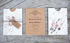 kraft paper invitations by the nouveau romantics.