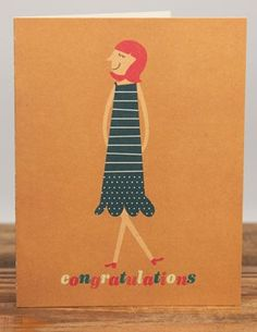 Proud Mary | Red Cap Cards | Illustrated Greeting Card by Blanca Gómez #congratulations