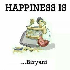 Khushi is...  Biryani!