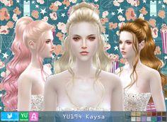 YU194 Kaysa hair (PAY) at Newsea Sims 4 • Sims 4 Updates