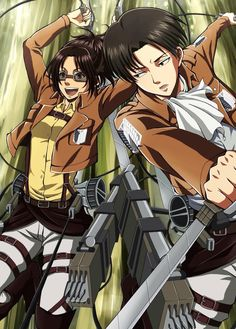 Levi and Hanji from Attack on Titan!!