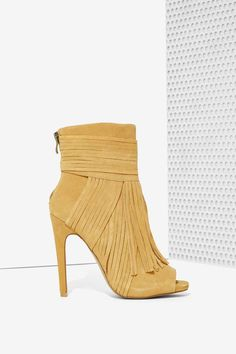 Kaili Fringe Suede Bootie | Shop Shoes at Nasty Gal!