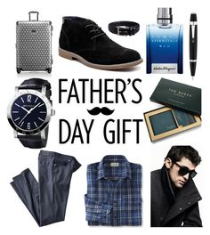 """Classic dad"" by isabelgarcia-3 ❤ liked on Polyvore featuring Tumi, DKNY, L.L.Bean, Hush Puppies, Bulgari, Ted Baker, Salvatore Ferragamo, Mont Blanc, Florsheim and men's fashion"
