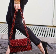 M Missoni bouclé knit bag adenorah.com