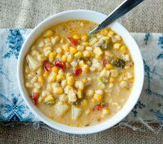 Corn chowder with bacon