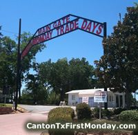 First Monday Trade Days in Canton, TX -- the oldest & largest flea market in the USA, spanning hundreds of acres housing over 5,000 vendors!