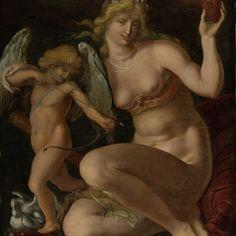 Venus and Amor, Jacob de Gheyn (II), 1605 - 1610 - Rijksmuseum