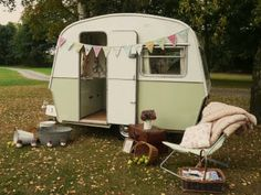 tiny mint trailer. perfect girls clubhouse