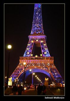Christmas in Eiffel tower