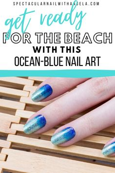 Looking for a beautiful summer nail art design? Bring the magic with Long Time No Sea, a pale mint to royal blue glitter gradient - so perfect for the beach! You're going to become obsessed with this pretty nail art. Rock summer with this unique nail art design and instantly graduate your nail art design from basic to brilliant in minutes. Shop now and get a perfect for the beach summer nail polish idea with Color Street! #nailpolishcolors #ombrenails #prettynaildesign Pretty Nail Designs, Pretty Nail Art, Nail Art Designs, Summer Nail Polish, Nail Polish Colors, Ocean Blue Nails, Nail Polish Strips, Blue Glitter, Color Street