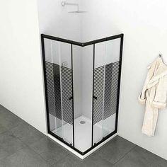 Eckdusche »Trento Black«, variabel verstellbar 80 - 90 cm, Duschkabine online kaufen | OTTO Home, Trash Can, Small, Small Trash Can