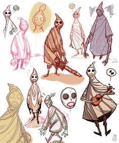 ghostboy concept sketches on Behance